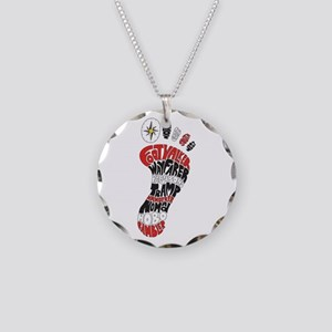 Footwalker Necklace Circle Charm