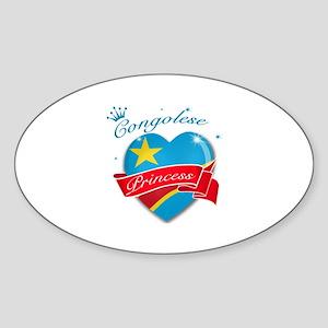 Congolese Princess Sticker (Oval)