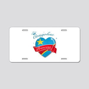 Congolese Princess Aluminum License Plate