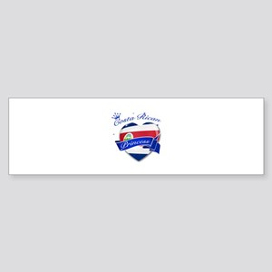 Costa rican Princess Sticker (Bumper)