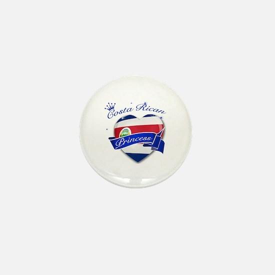 Costa rican Princess Mini Button