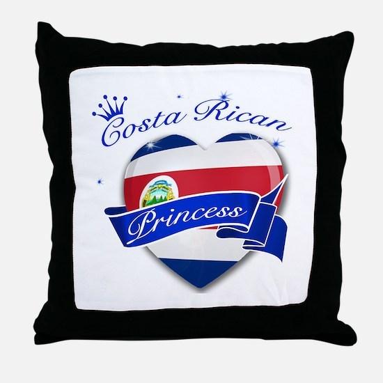 Costa rican Princess Throw Pillow