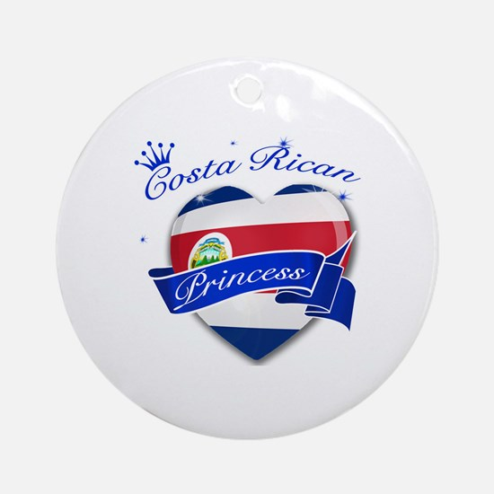 Costa rican Princess Ornament (Round)