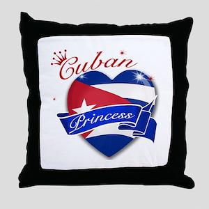 Cuban Princess Throw Pillow