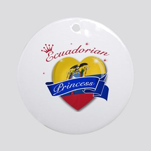 Ecuadorian Princess Ornament (Round)