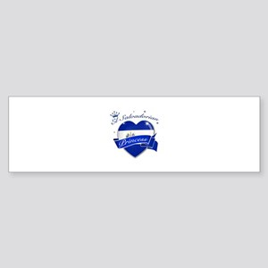 El Salvadorian Princess Sticker (Bumper)