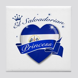 El Salvadorian Princess Tile Coaster