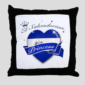 El Salvadorian Princess Throw Pillow