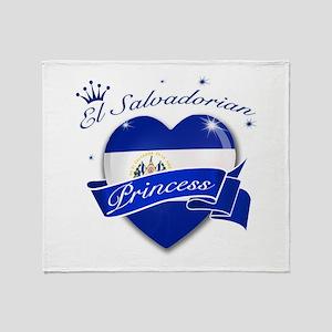 El Salvadorian Princess Throw Blanket