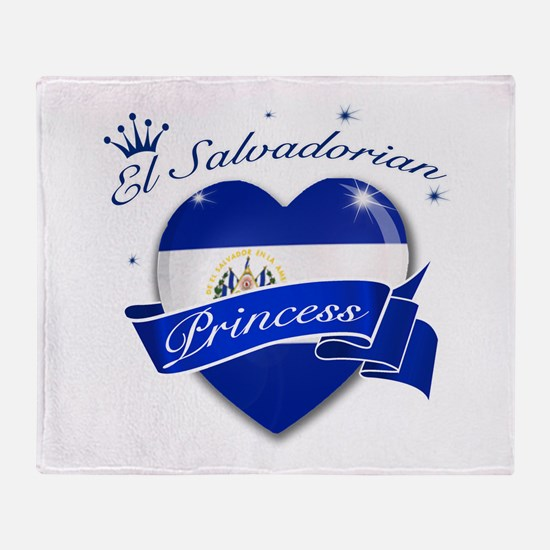 El Salvadorian Princess Throw Blanket