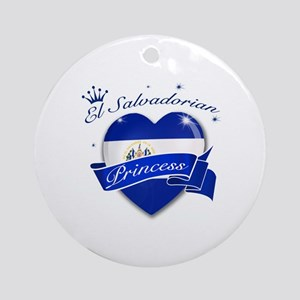 El Salvadorian Princess Ornament (Round)