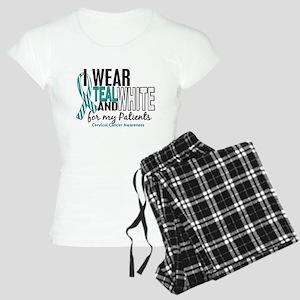 I Wear Teal White 10 Cervical Cancer Women's Light