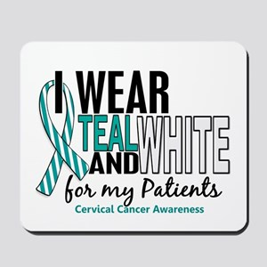 I Wear Teal White 10 Cervical Cancer Mousepad