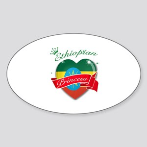 Ethiopian Princess Sticker (Oval)