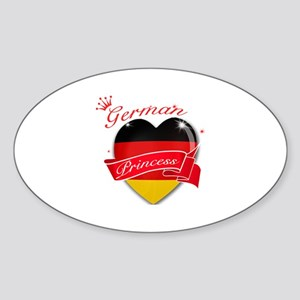 German Princess Sticker (Oval)