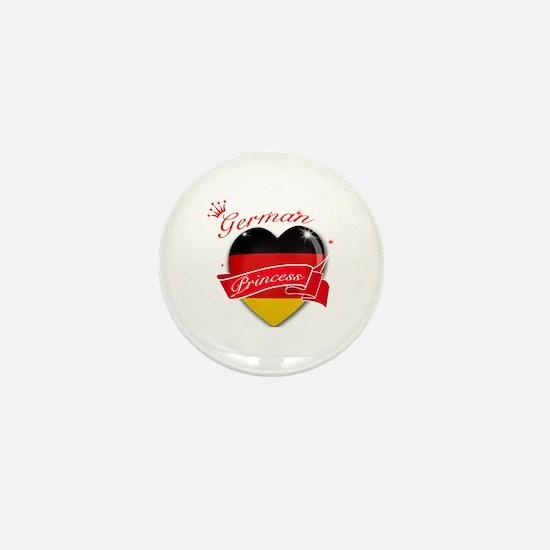 German Princess Mini Button