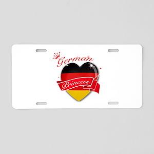 German Princess Aluminum License Plate
