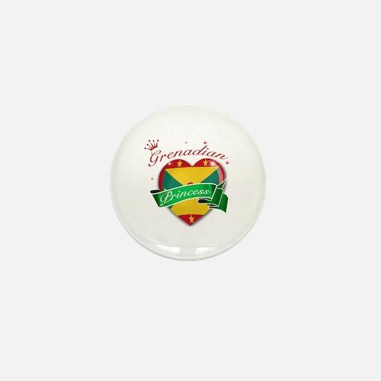Grenadian Princess Mini Button