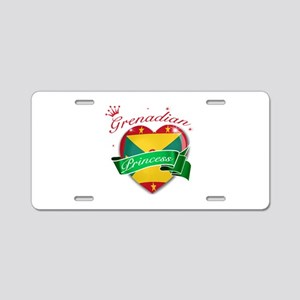 Grenadian Princess Aluminum License Plate