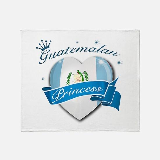 Guatemalan Princess Throw Blanket