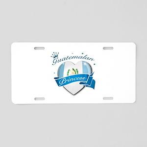 Guatemalan Princess Aluminum License Plate