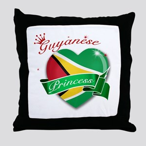 Guyanese Princess Throw Pillow