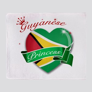 Guyanese Princess Throw Blanket