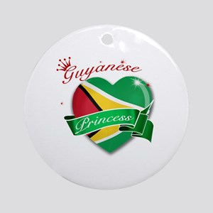 Guyanese Princess Ornament (Round)