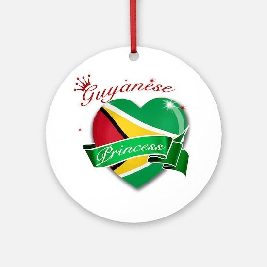 Guyanese Princess Ornament (Round)