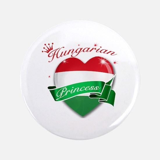 """Hungarian Princess 3.5"""" Button"""