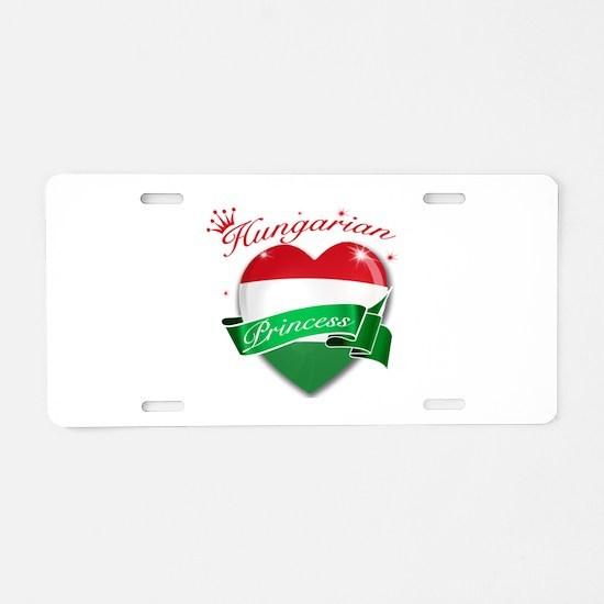 Hungarian Princess Aluminum License Plate