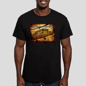 UH-60 Blackhawk Men's Fitted T-Shirt (dark)