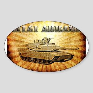 M1A1 Abrams Sticker (Oval)