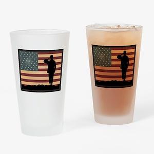 Rocky Salute Drinking Glass