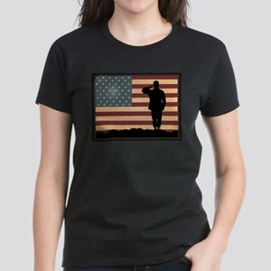 Rocky Salute Women's Dark T-Shirt