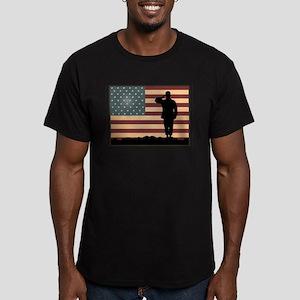 Rocky Salute Men's Fitted T-Shirt (dark)