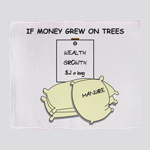 If money grew on trees Throw Blanket
