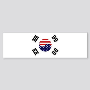 Korean-American Flag Sticker (Bumper)