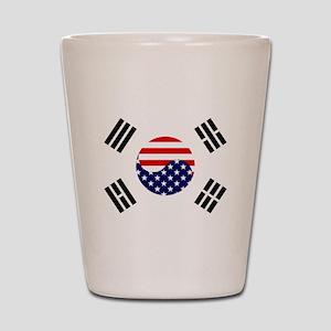 Korean-American Flag Shot Glass