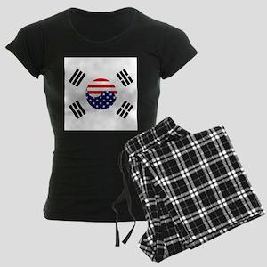 Korean-American Flag Women's Dark Pajamas
