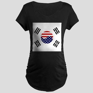 Korean-American Flag Maternity Dark T-Shirt
