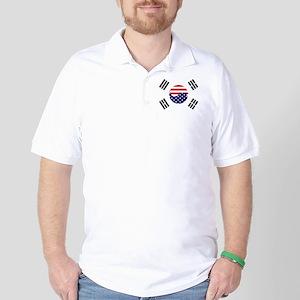 Korean-American Flag Golf Shirt