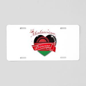 Malawian Princess Aluminum License Plate