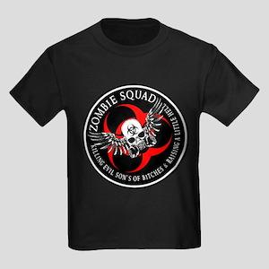 Zombie Squad 3 Ring Patch Rev Kids Dark T-Shirt