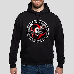 Zombie Squad 3 Ring Patch Rev Hoodie (dark)
