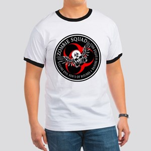 Zombie Squad 3 Ring Patch Rev Ringer T