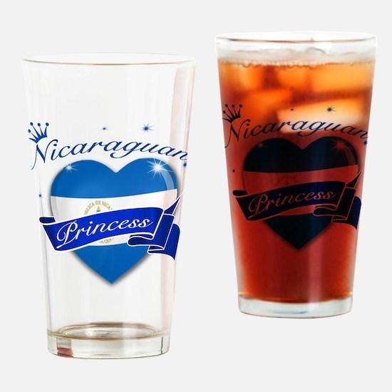 Nicaraguan Princess Drinking Glass