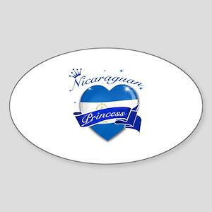 Nicaraguan Princess Sticker (Oval)