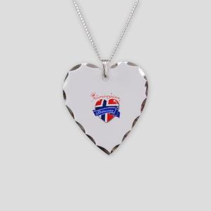 Norwegian Princess Necklace Heart Charm