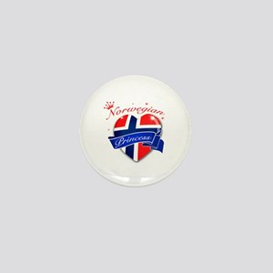 Norwegian Princess Mini Button